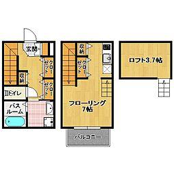 六本松 新築アパート[1階]の間取り
