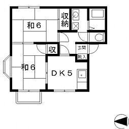 フレグランス小阪[102号室号室]の間取り