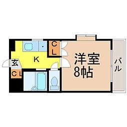 愛知県名古屋市昭和区広路本町5丁目の賃貸マンションの間取り