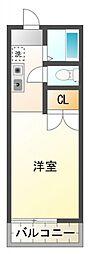 小金井パークサイドA[1階]の間取り