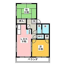 Yハイムフリューゲル[2階]の間取り