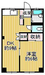プラセール岸和田[4階]の間取り