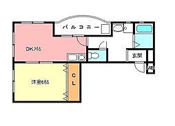 グリーンスクエアー[2階]の間取り