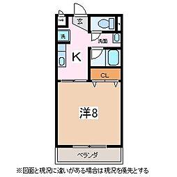 サープラスワン西中田[1階]の間取り