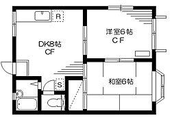 ユタカハイツ[1階]の間取り