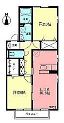 エテルナコートB[2階]の間取り