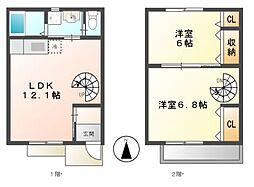 [テラスハウス] 愛知県あま市小路1丁目 の賃貸【/】の間取り