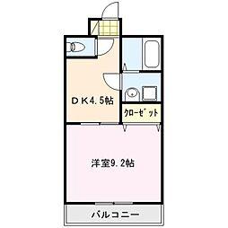 アンプルールベトンHISASHI[2階]の間取り