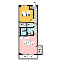 美園 7 SEVEN[2階]の間取り