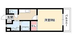 愛知県尾張旭市城前町4丁目の賃貸アパートの間取り