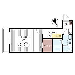 AJ津田沼III[201号室]の間取り