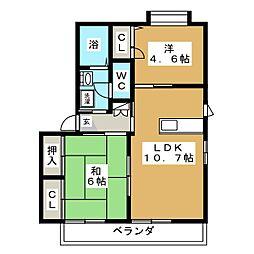 シャーメゾン操山[1階]の間取り