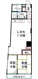 国分寺ヒミコマンション[2階]の間取り
