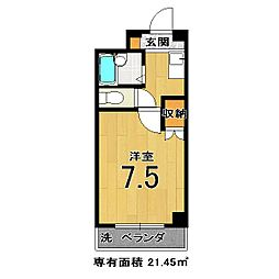 モンエスト東福寺[307号室]の間取り