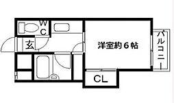 第1橋本ハイツ[2階]の間取り