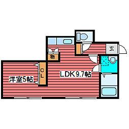 リベルタ福住[1階]の間取り