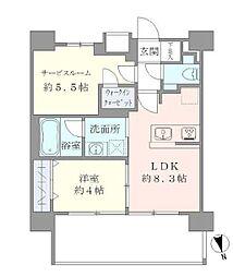 東京メトロ千代田線 湯島駅 徒歩6分の賃貸マンション 9階1SLKの間取り