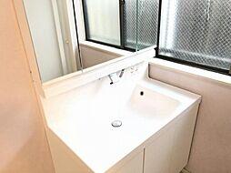 窓付きの明るい洗面所