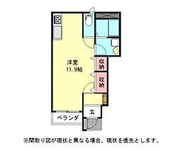 愛知県一宮市赤見3丁目の賃貸アパートの間取り