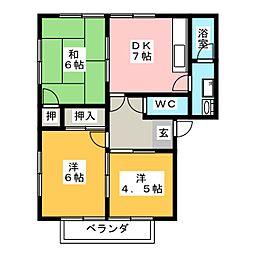 コーポ明野[2階]の間取り