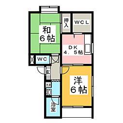ザ・フォレスティII[1階]の間取り