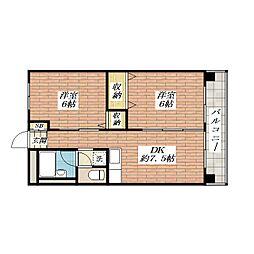 セブンスリーハイツ[2階]の間取り
