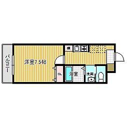 愛知県名古屋市中川区法華1丁目の賃貸マンションの間取り