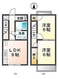 [テラスハウス] 愛知県あま市甚目寺乾出 の賃貸【/】の間取り