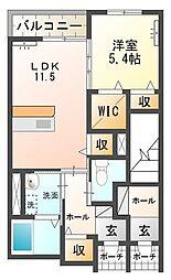 (仮称)石岡市東光台アパート新築工事[103号室号室]の間取り