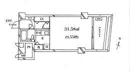 東向きバルコニー有、日当たり良好31平米のお部屋です