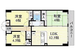 ベルビューレ江坂弐番館[6階]の間取り