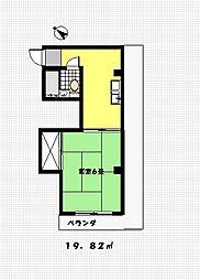 片山第二ビル[203号室]の間取り