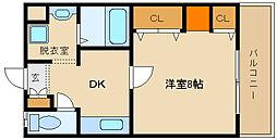 ハートフルOKA[2階]の間取り
