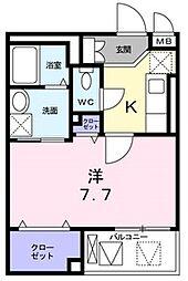 兵庫県神戸市須磨区古川町4丁目の賃貸マンションの間取り