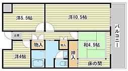 レナジア姫路WEST[4004号室]の間取り