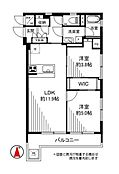 2LDK・WIC 対面キッチン・追焚き・浴室乾燥機・エアコン付き