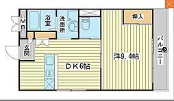 カリヨン三藏田[3階]の間取り
