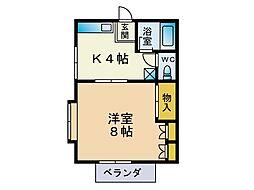 第一富士見荘[202号室]の間取り