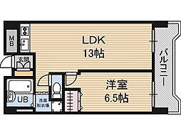 メロディハイム新大阪[6階]の間取り