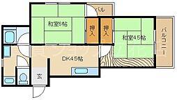 シャトリエコマエ[3階]の間取り