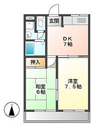 ファミール茶屋ケ坂[4階]の間取り
