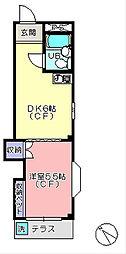 松山ハウス[1階]の間取り
