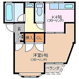 ハイムミヤザキ[2階]の間取り