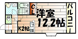 ミレニアムハイツ熊本[202号室]の間取り