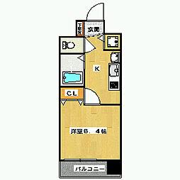 スワンズ京都五条大宮[403号室]の間取り
