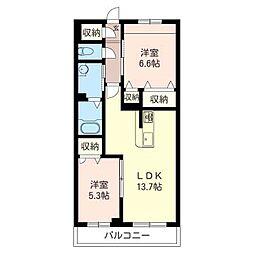 仮)五所マンション[302号室号室]の間取り