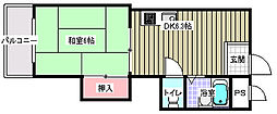 レジデンスイシダ2階Fの間取り画像