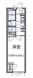 東京都八王子市上野町の賃貸アパートの間取り