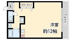 兵庫県神戸市兵庫区大開通4丁目の賃貸マンションの間取り