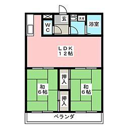アーバンハウス[3階]の間取り